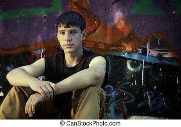 teen on the street