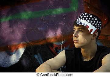 American teen - teenager on the streetspecial photo fx