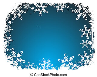 Snowflake border - Snowflake background