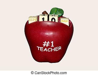 calendario, manzana