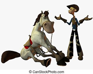 Eddy and the Sheriff - 3D Render
