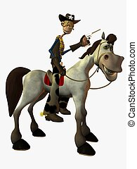 Eddy and the Sheriff - 3D Toon Render