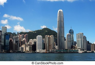 Hong Kong Skyline in the afternoon