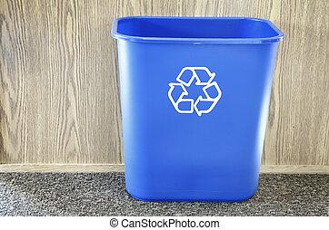 Recycle Bin - Recycling bin in office
