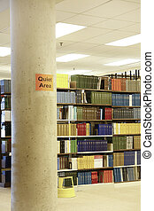Library with Quiet Area sign