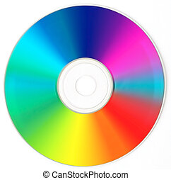 CD / DVD  - Rainbow Color.