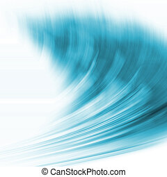 Abstract wave - Abstract background with a flowing feel to...