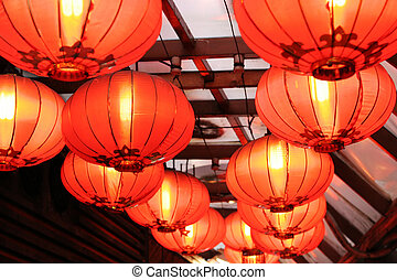 Lanterns - Red Chinese lanterns