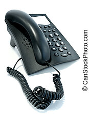 Phone with the twirled cord - Black phone with the twirled...