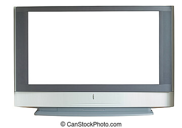 Widescreen TV, isolated, Path included