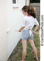 Teen Painting House