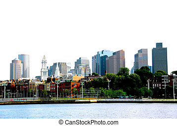 Boston skyline on a summer day