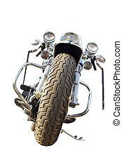 Isolated motorcycle with clipping path