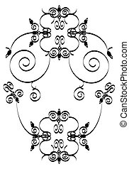 floral ornament - black and white floral ornament