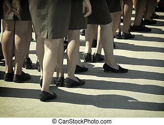 militaire, Femmes