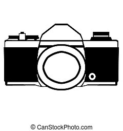 Camera - Drawing of an old style 35mm camera