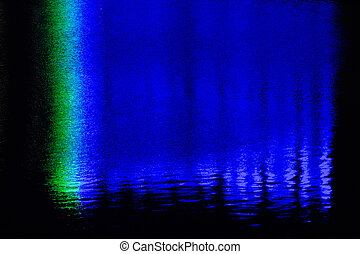 Background-reflection of neon in the water -...