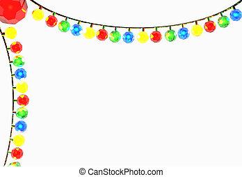 Christmas lights - A string of Christmas lights