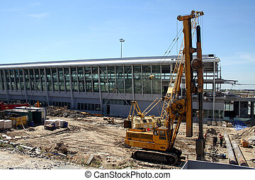 Airport construction - Terminal 2 construction at...