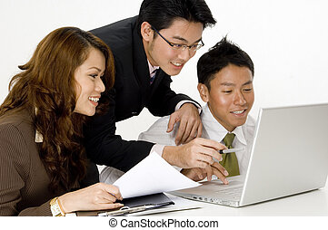 Happy Business Team - A smiling business group of young...
