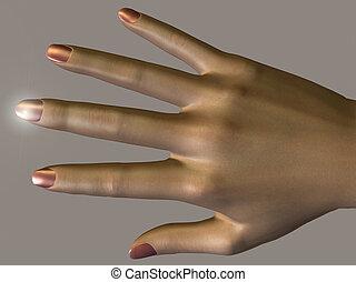kvinnlig,  hand