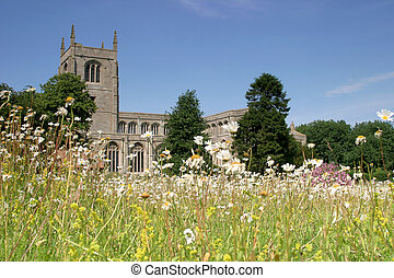 Church and Meadow - of St Michael at Coningsby,...