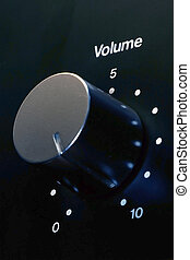 Maximum Volume - Closeup of a volume knob at maximum setting...