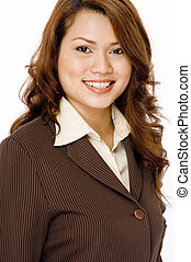 Pretty Businesswoman - A young attractive asian...