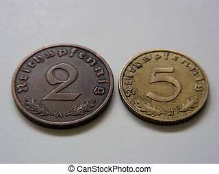 Third Reich Coins, Tails - German coins from the Third Reich...