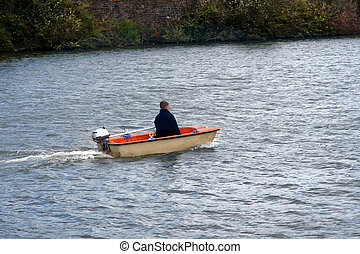 Teen boatman