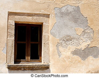 Historical facade - A historical facade with a window