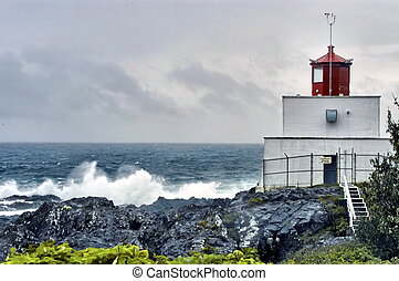 lighthouse - Amphitrite lighthouse in Ucluelet, BC on the...
