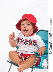 babytalk - One year old boy learning to express him self,...