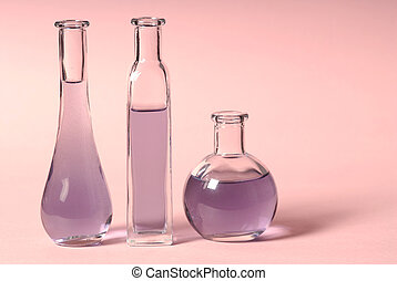 Massage oil - bottles of lavender oil