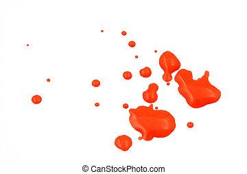 rojo, mojado, Pintura, salpicadura