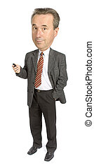 senior businessmans caricature - caricature of senior...