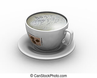 Cup of coffee - 3D render of a cup of coffee
