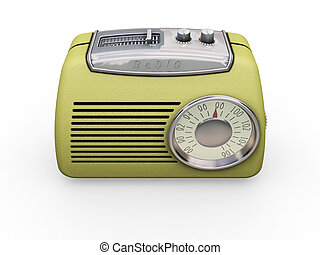 Retro radio - 3D render of a retro radio