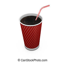 Soda drink - 3D render of a soda drink with straw