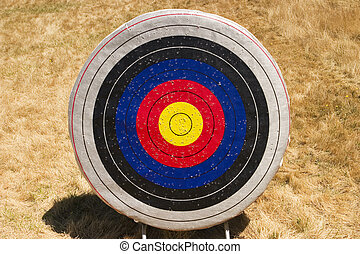 Archery Target - A single archery target As a summer camp...