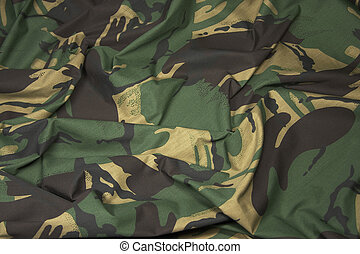 Camouflage Fabric 1 - British Army camouflage material,...