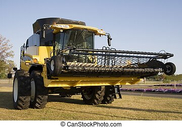 Giant Combine - A giant combine waits to begin harvesting...