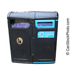recycling bin for newspaper and magazines