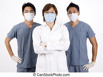 Medical Team - Three young doctors