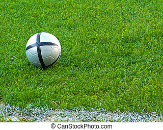 Football - A football ball in a grassfield