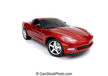 vermelho, car, miniatura