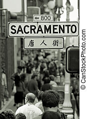Chinatown crowd - San Francisco,  California, USA