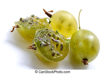 Juicy gooseberry - Juicy berries of a gooseberry are shone...