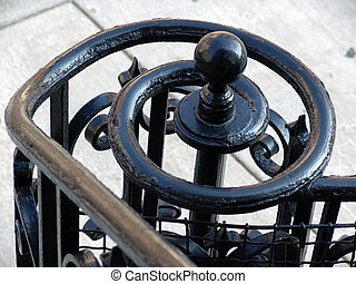 Wrought Iron Spiral Handrail - black iron spiral handrail at...