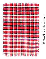 Checkerwork with Edging - Cotton fabric with Edging against...